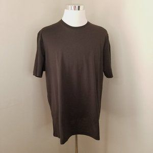 Tasso Elba Brown crew cotton tee shirt top XL